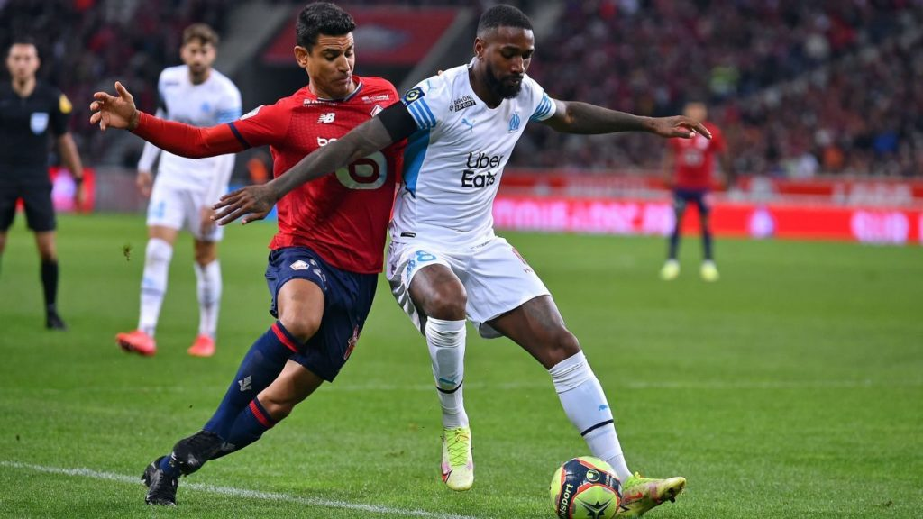 Gerson left the field angry, Olympique lost to Lille and relegated to fifth