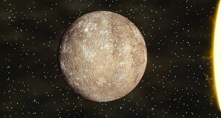 The BepiColombo space mission is sending its first image from Mercury showing craters and plains on the planet